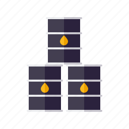 barrel, energy, equipment, fuel, industry, oil, stack icon