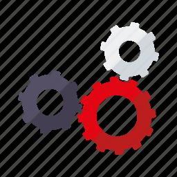 business, cog, equipment, industry, machine, teamwork, transmission icon