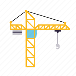 construction, crane, equipment, industrial, industry, machine icon