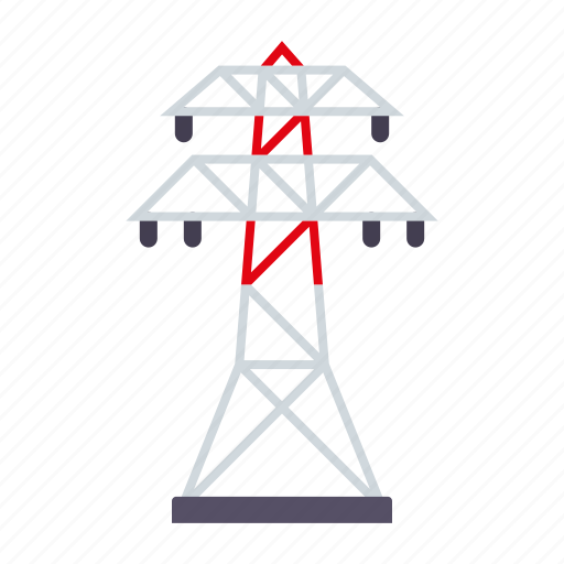 electricity, equipment, industry, power line, pylon icon