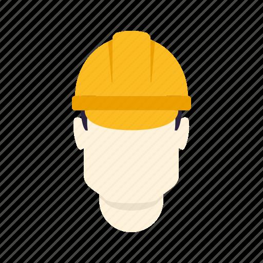 hard hat, helmet, industry, man, safety, worker icon