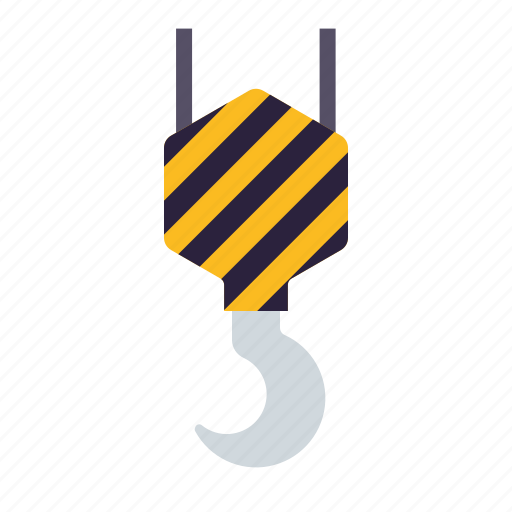 crane, equipment, heavy, hook, industry icon