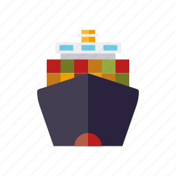 cargo, container, industry, ship, shipping, transportation, vessel icon