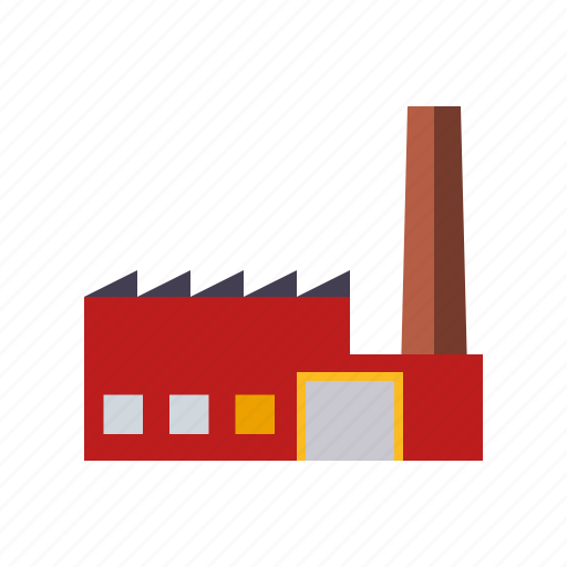 building, chimney, factory, industrial, industry, plant icon