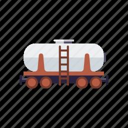equipment, industry, railroad, railway, tank, transport, wagon icon