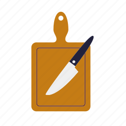 board, chopping, cooking, kitchen, knife, utensil icon