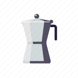 coffee, cooker, espresso, household, kitchen, mocha, utensil icon