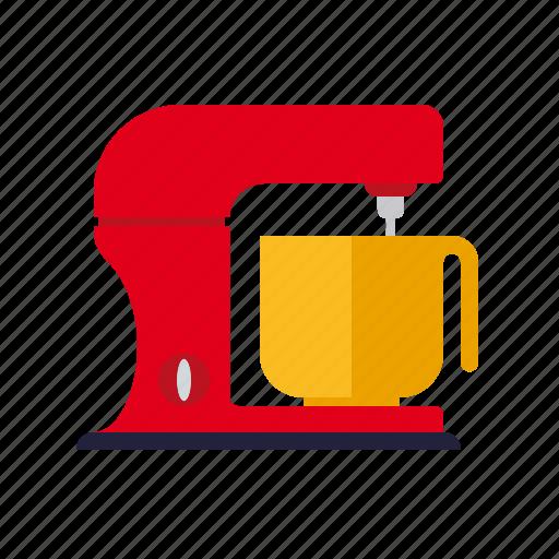appliance, cooking, household, kitchen, kneading, machine, mixer icon