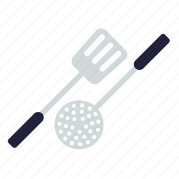 cooking, household, kitchen, ladle, spatula, utensil icon