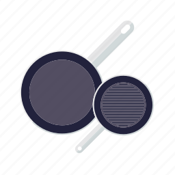 cooking, household, kitchen, pans, pots, utensil icon
