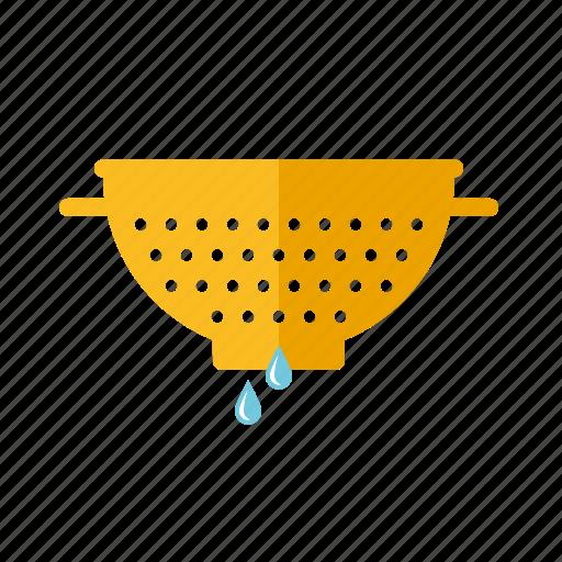 colander, household, kitchen, sieve, strainer, utensil icon