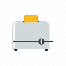 appliance, bread, household, kitchen, toaster icon