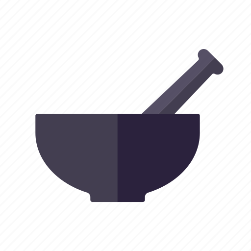 cooking, food, ingredients, kitchen utensil, mortar, pestle, spices icon
