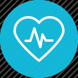 heart, heartbeat, pulsation, pulse icon icon