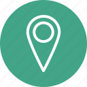 location marker, location pin, location pointer icon