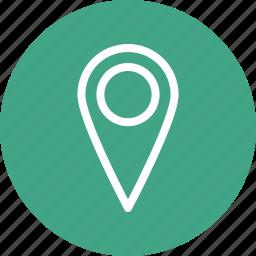 location marker, location pin, location pointer icon