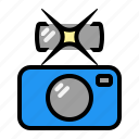 accessory, camera, flash, picture, taking icon