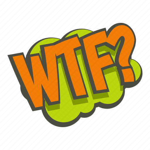 blast, comic, explode, question, text, word, wtf icon