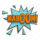 bomb, burst, comic, explode, explosion, kaboom, power