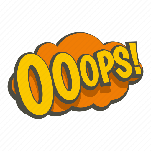 cartoon, cloud, comic, explosion, ops, text, word icon