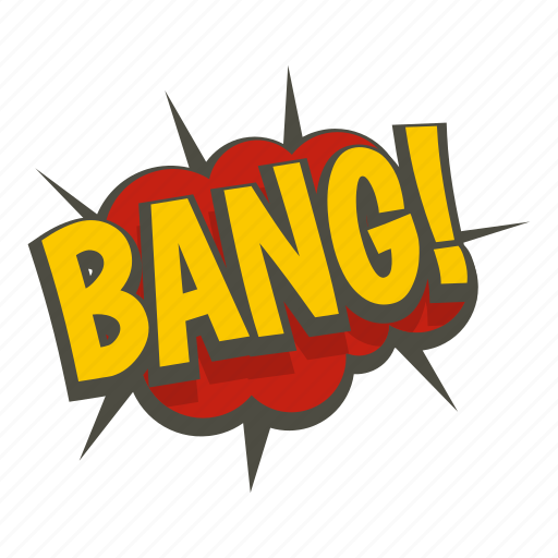 art, bang, comic, exclamation, expression, text, word icon