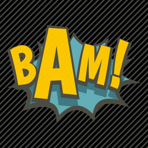 art, bam, burst, comic, explosion, expression, word icon