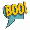 boo, bubble, exclamation, expression, speech, text, word icon