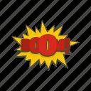 boom, bubble, cloud, comic, object, text icon