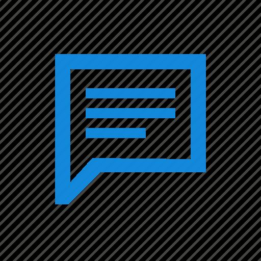 comment, comments, conversation, discuss, message, reply, talk icon