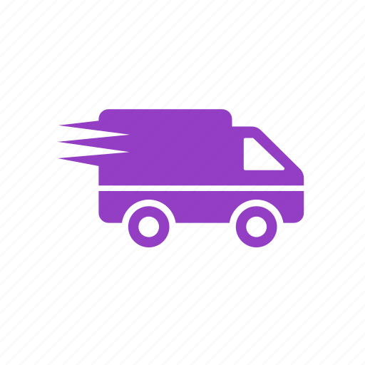 delivery, fast, shipping, travelling, van icon