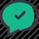 chat, check, comment, conversation, message