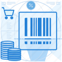 bar, code, commerce, shopping icon