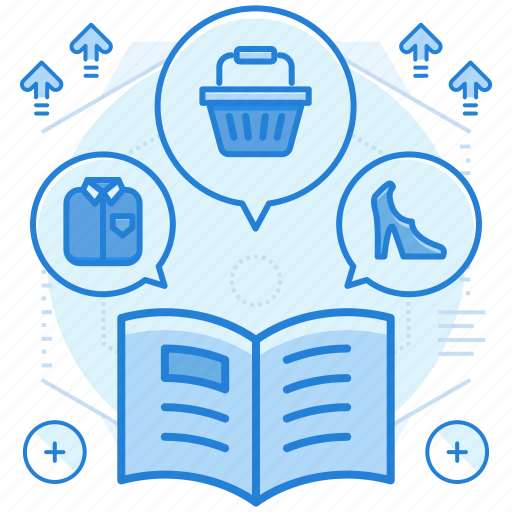 catalogue, items, magazine icon