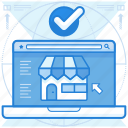 online, store, website icon