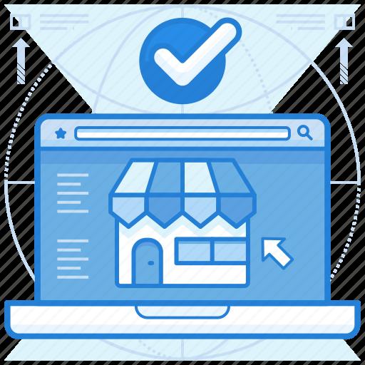 online, store, website icon
