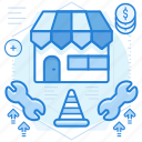 maintenance, shop, store, website icon