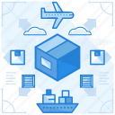 delivery, international, shipping, transfer icon