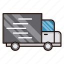 business, commerce, delivery, fast, transportation, truck icon