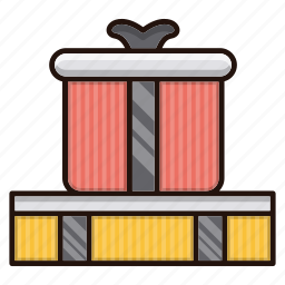 birthday, box, business, commerce, gifts icon