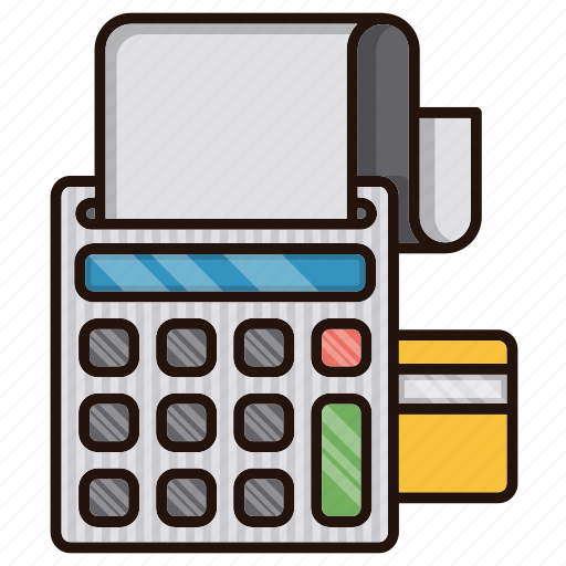business, checkout, commerce, machine, order, payment icon
