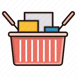 basket, business, commerce, shopping icon