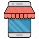 business, commerce, market, mobile, online, shop icon