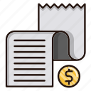 business, commerce, document, list, shopping icon