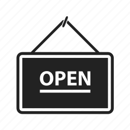 open, shop, shopping, sign, store icon