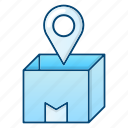 box, commerce, location, order, ship icon