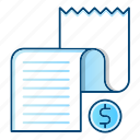 commerce, document, list, paper, report, shopping icon