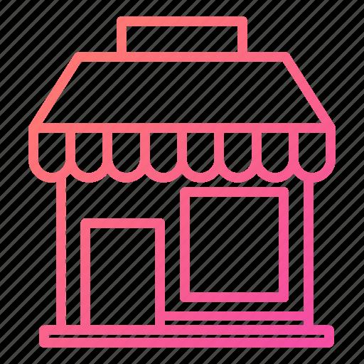 ecommerce, front, market, shop, shopping icon