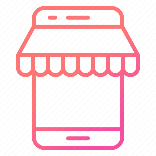 ecommerce, mobile, shop, shopping, store icon
