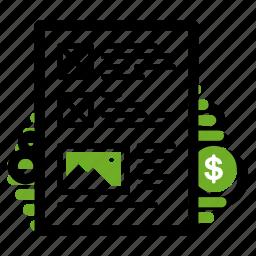 dollar, landing, landing page, rate, score, site, website icon