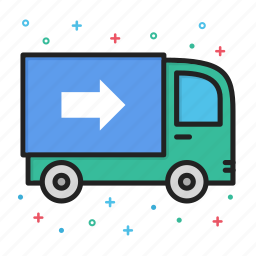 delivery, shipping, truck icon